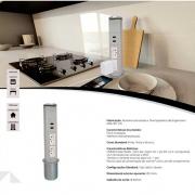 Mini Totem De Mesa Manual 2Ele Nbr 10A - Cinza - Dutotec