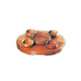 Petisqueira de Madeira 5 Potes - Casmavi
