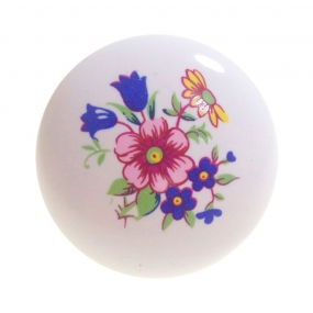 Puxador Branco IL7019-25 Floral - Italyline