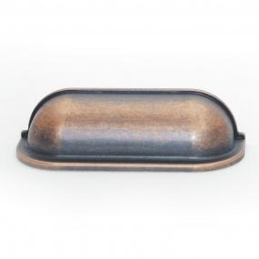 Puxador Concha Quadrada Bronze Envelhecido - Speed