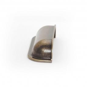 Puxador Concha Quadrada Ouro Envelhecido - Speed