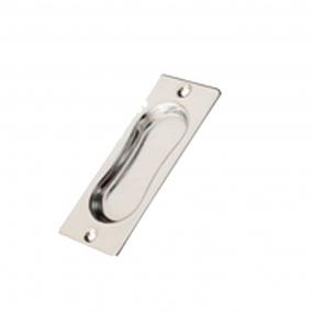 Puxador Concha Sobrepor Cega Cromada em  Aço 10cm- Perfil