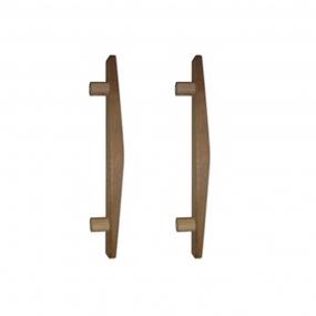 Puxador de Madeira Abaulado Cedro 40cm (Par) - Casmavi