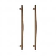 Puxador de Madeira Abaulado Cedro 80cm (Par) - Casmavi