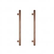 Puxador de Madeira Redondo Cedro 60cm (Par) - Casmavi