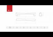 PUXADOR GLISS FURACAO 192MM COBRE FOSCO  - GECELE