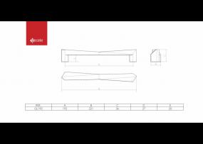 PUXADOR GLISS FURACAO 192MM GRAFITE  - GECELE