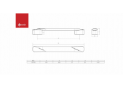 PUXADOR GOOT FURACAO 192MM GRAFITE  - GECELE