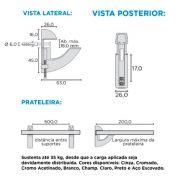 Suporte para Prateleiras SP-185AE - Rometal