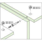 Tambor Minifix 15x12mm + Haste Dupla 64mm (15 Pçs) - FGVTN