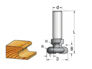 Fresa Tipo Puxador C/ Rol (R4,8) - 19Mm X 14,3 - H12/57,5 RO19002 - Wpw