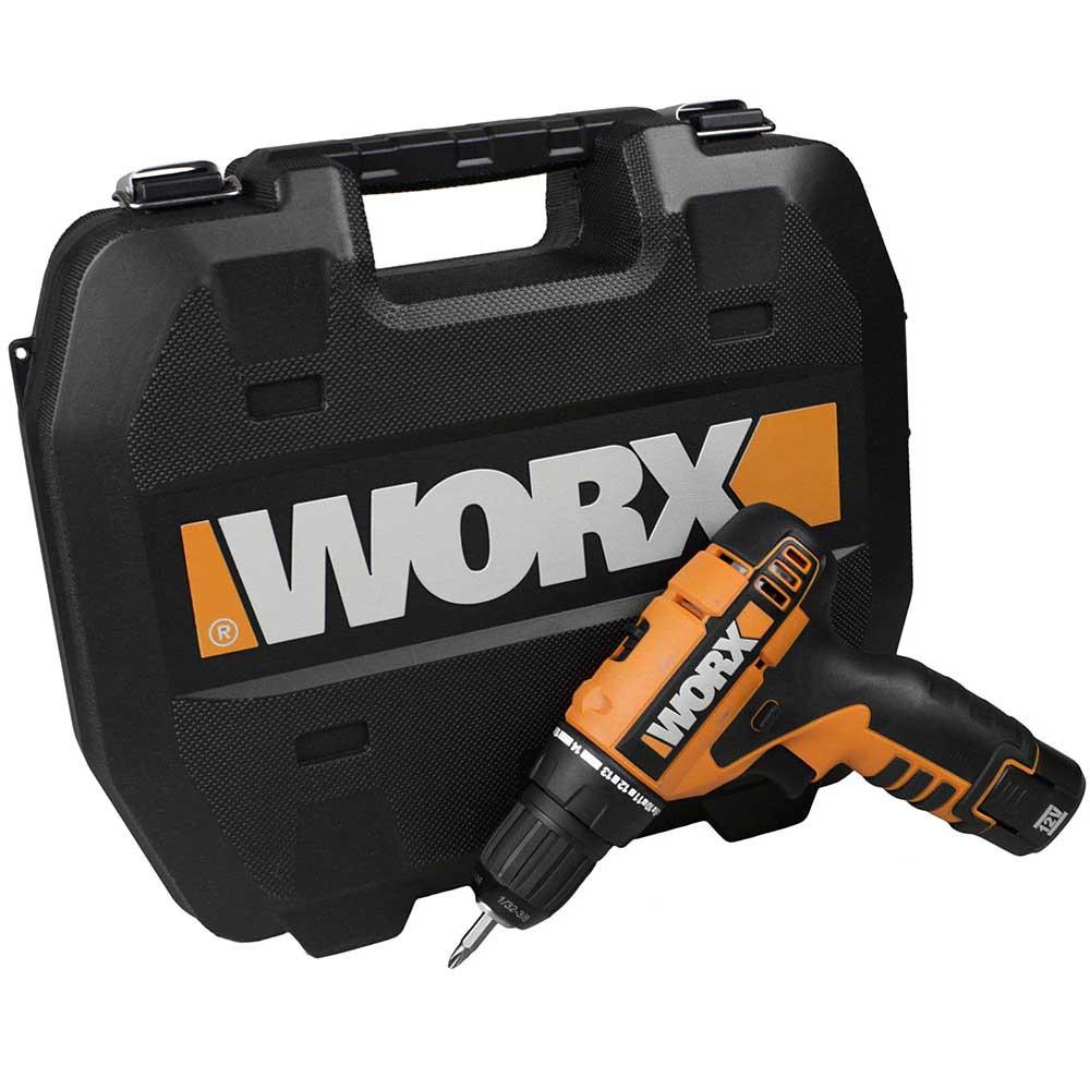 Furadeira/Parafusadeira com bateria de lítio 12V Bivolt - Worx