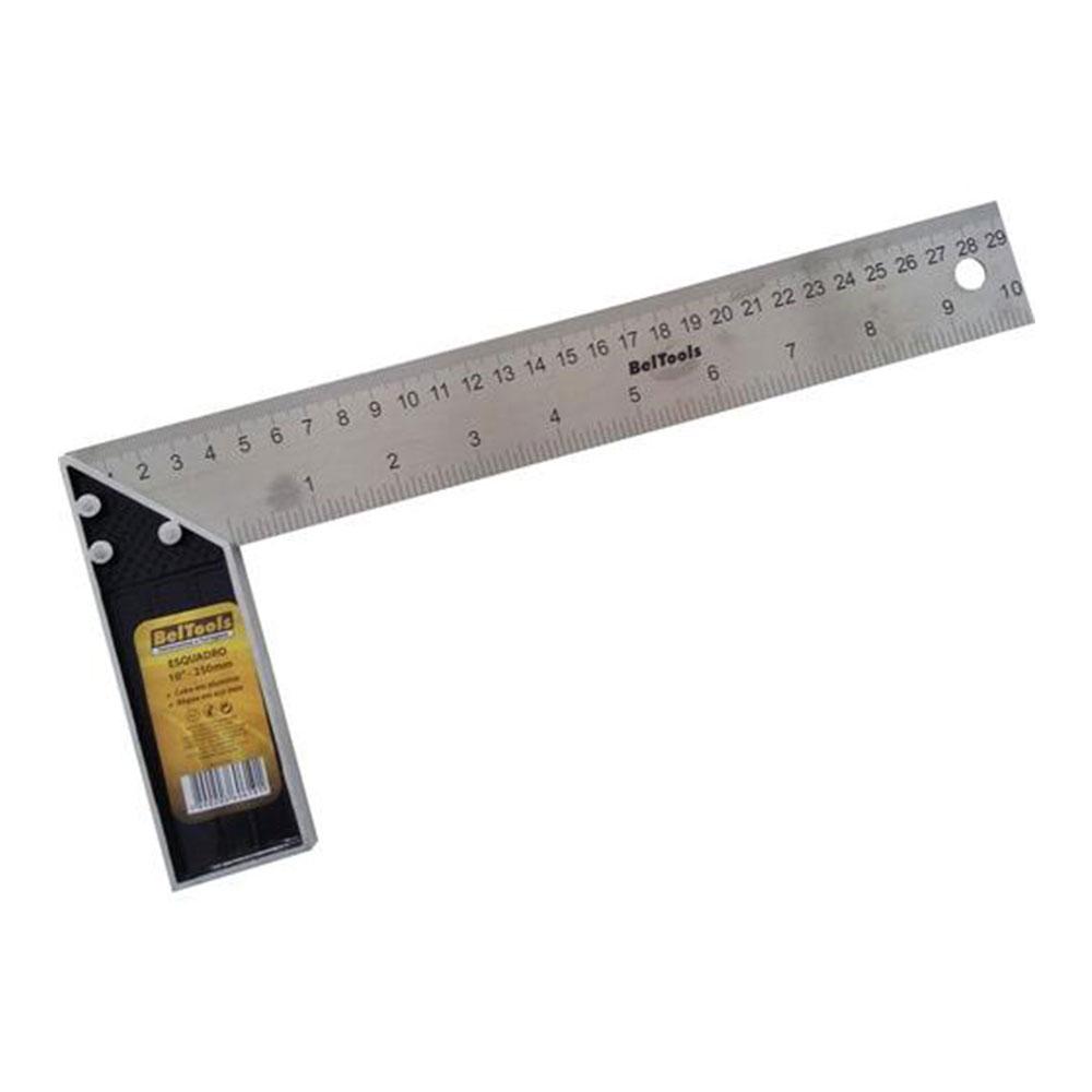 """Esquadro Alumínio 10""""/ 30cm - Beltools"""