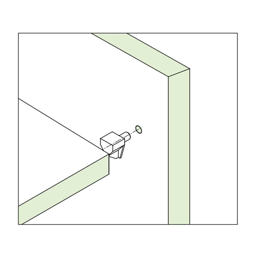 Suporte de Prateleira Trapézio 5mm (10 peças) - FGVTN