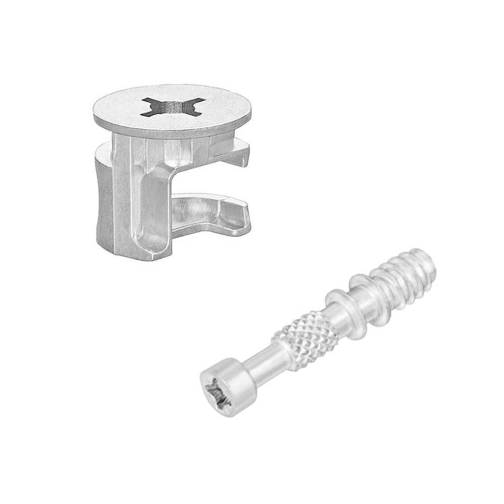 Tambor Minifix 15x13,5mm + Parafuso 6x32mm (10 peças) - FGVTN