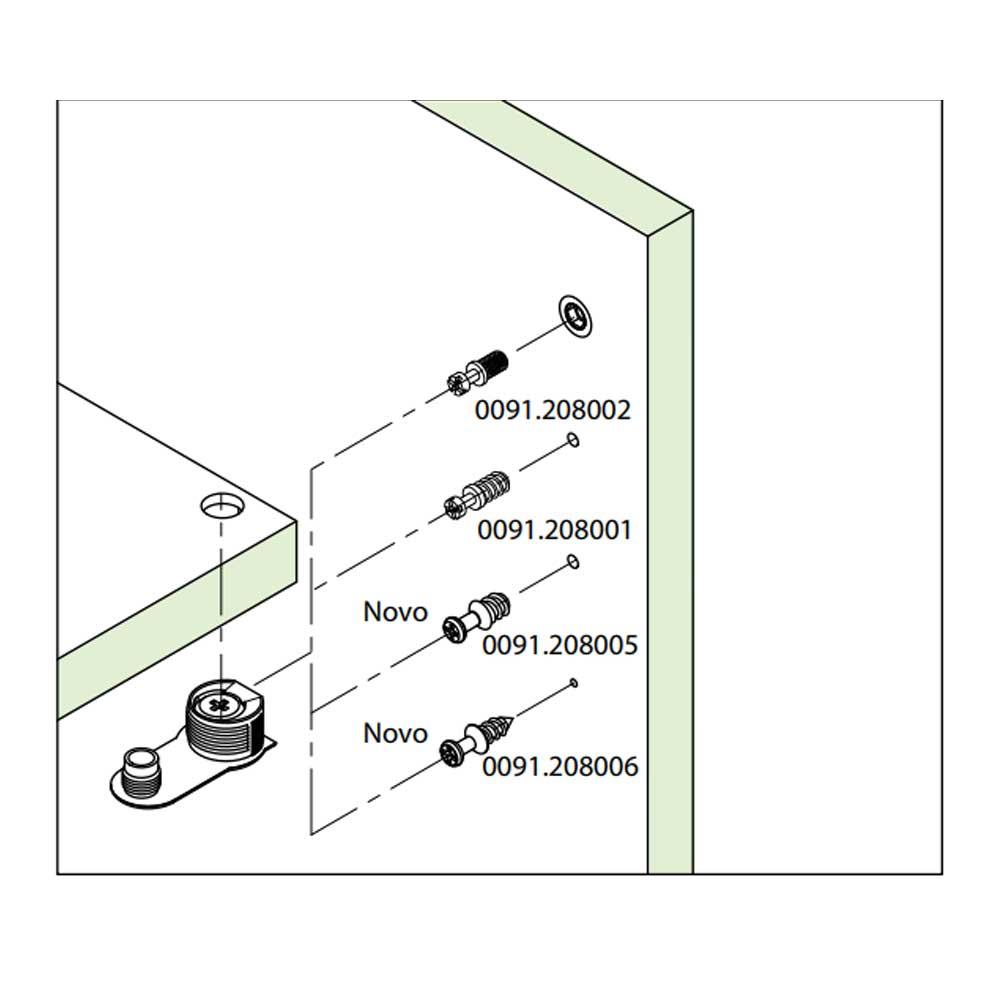 FBA45 Plástico c/ Parafuso M6xM8mm (10 Peças) Marrom - FGVTN