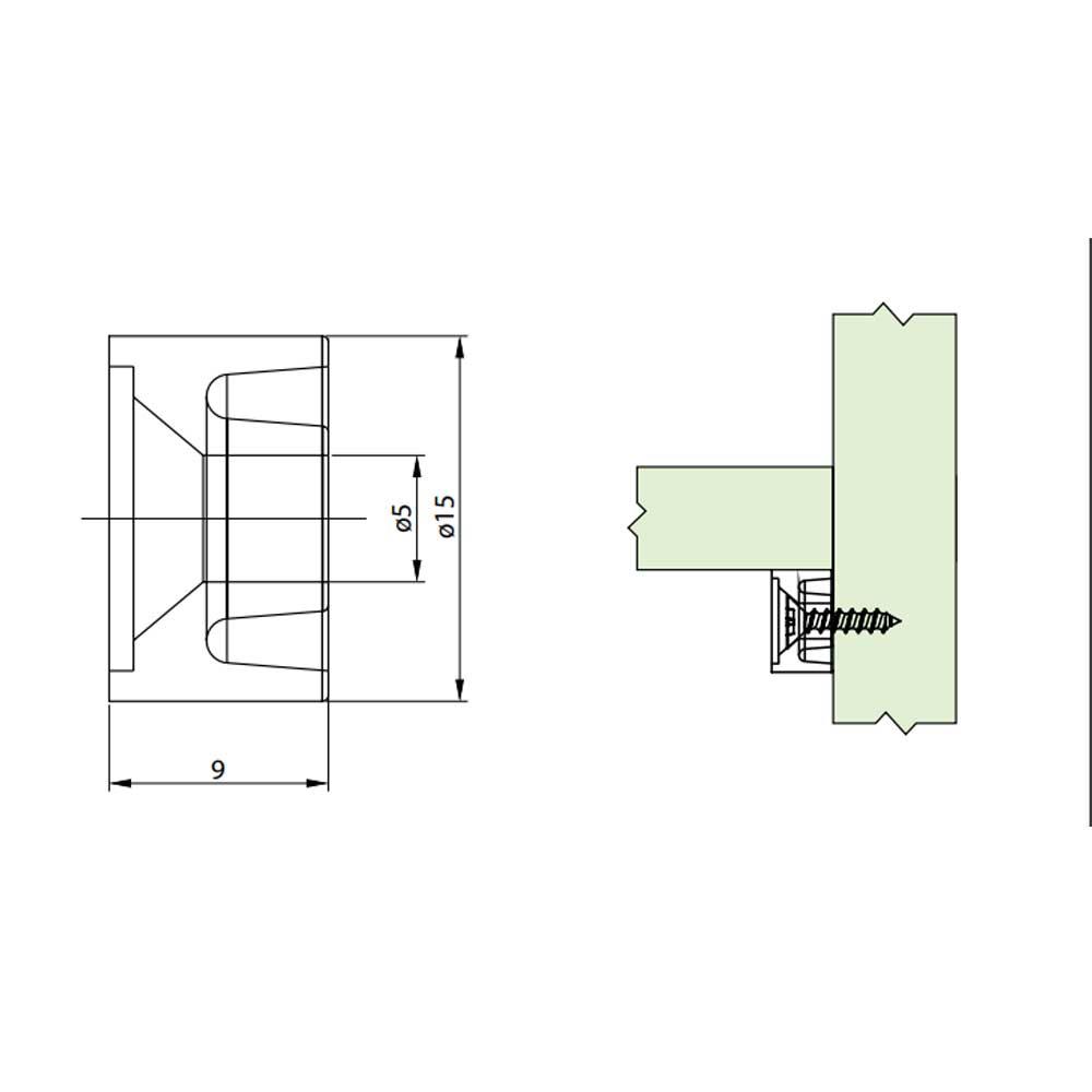 Suporte Prateleiras 10x15 Marrom (20 peças) - FGVTN