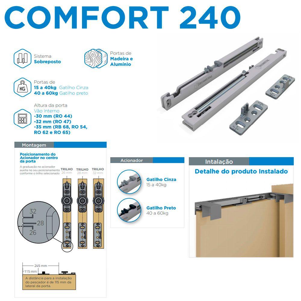 Amortecedor Comfort R240 Top (15-40 kg) - Rometal