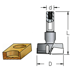 Broca Sistema Combinado - D35Mm - Direita ( 56,5L - D10) MPK3507 - Wpw