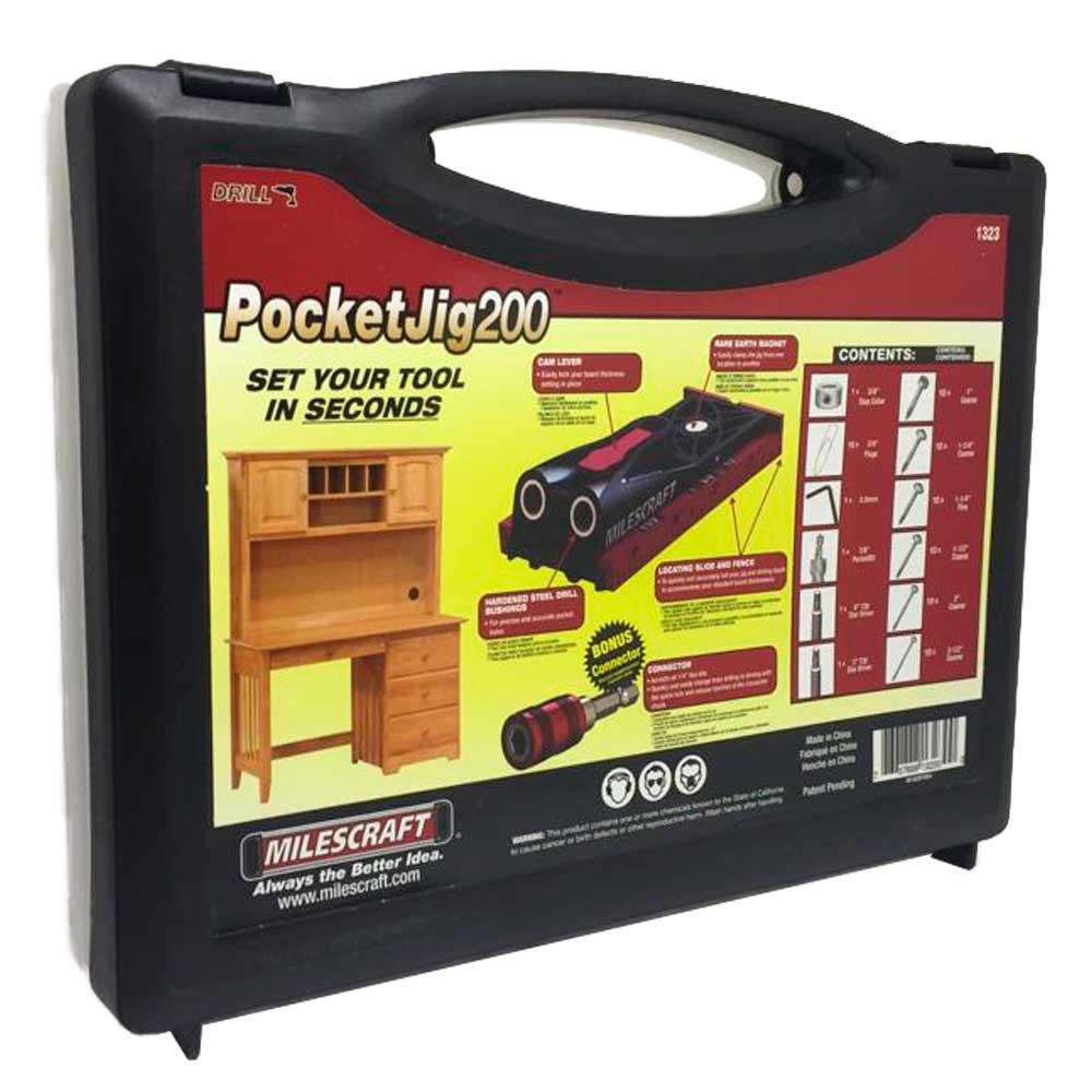 Combo Gabarito  p/ Fixação de Parafusos Pocket Hole 200 - Milescraft