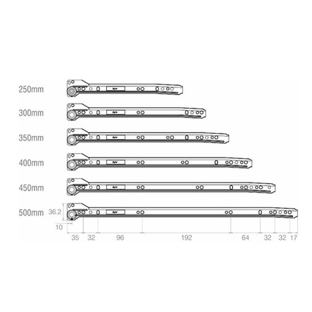 Corrediça 500mm (Epoxi Branco) - Bigfer