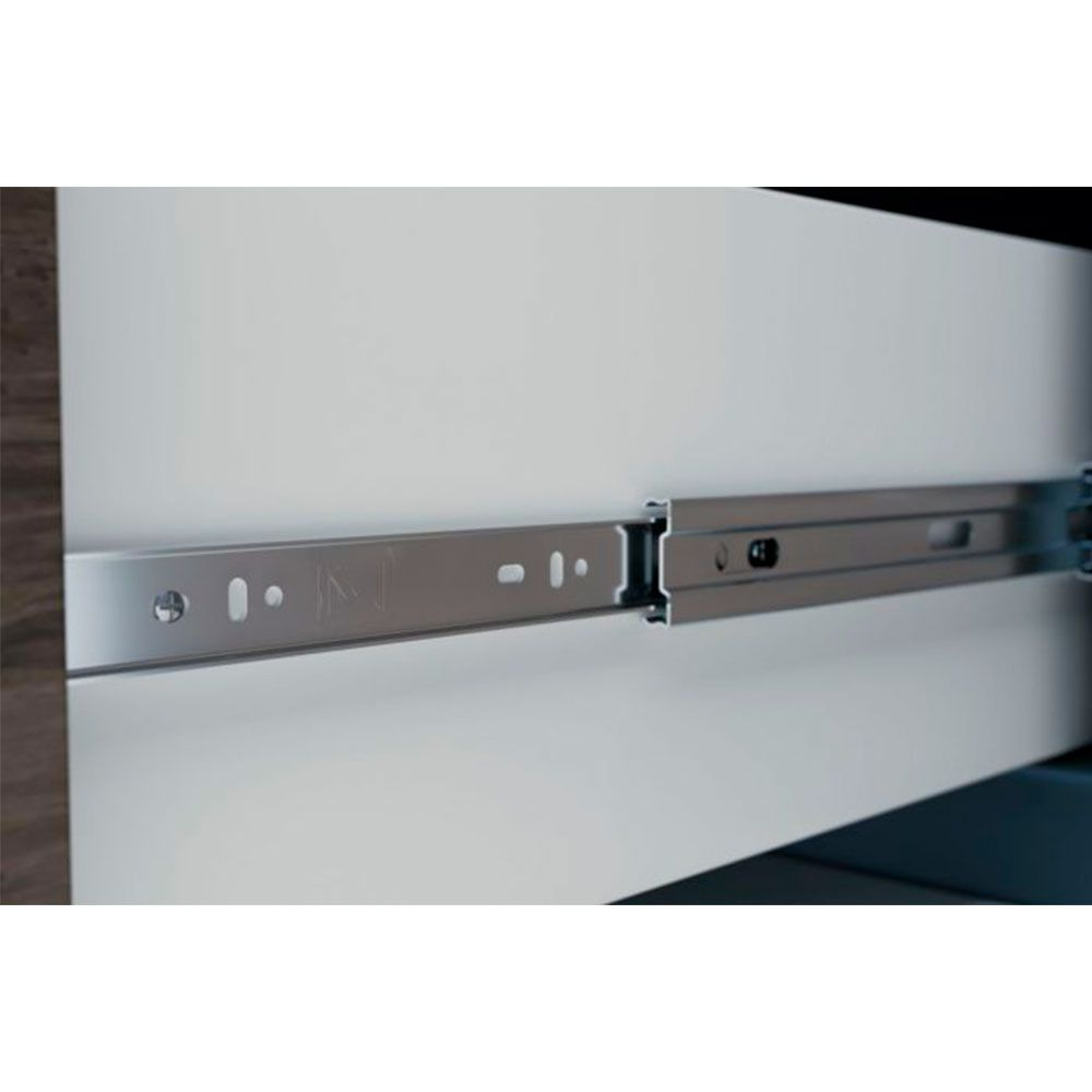 Corrediça Telescópica Steel 350Mm (Par) - Metalnox