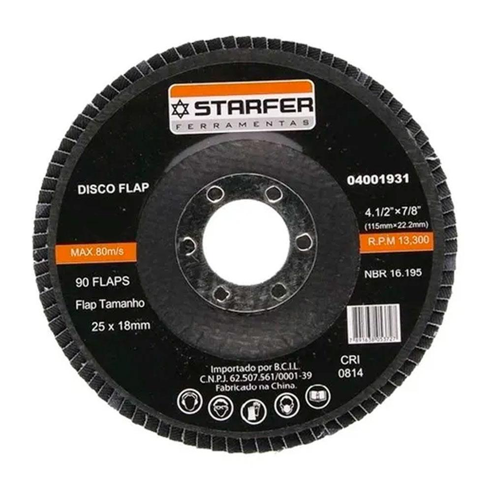 Disco Flap 4.1/2 Grão 60 Starfer
