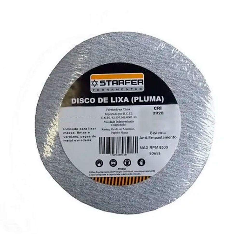 Disco Velcro Branco 150Mm Grão 180 (Kit 10 Unidades)  - Starfer