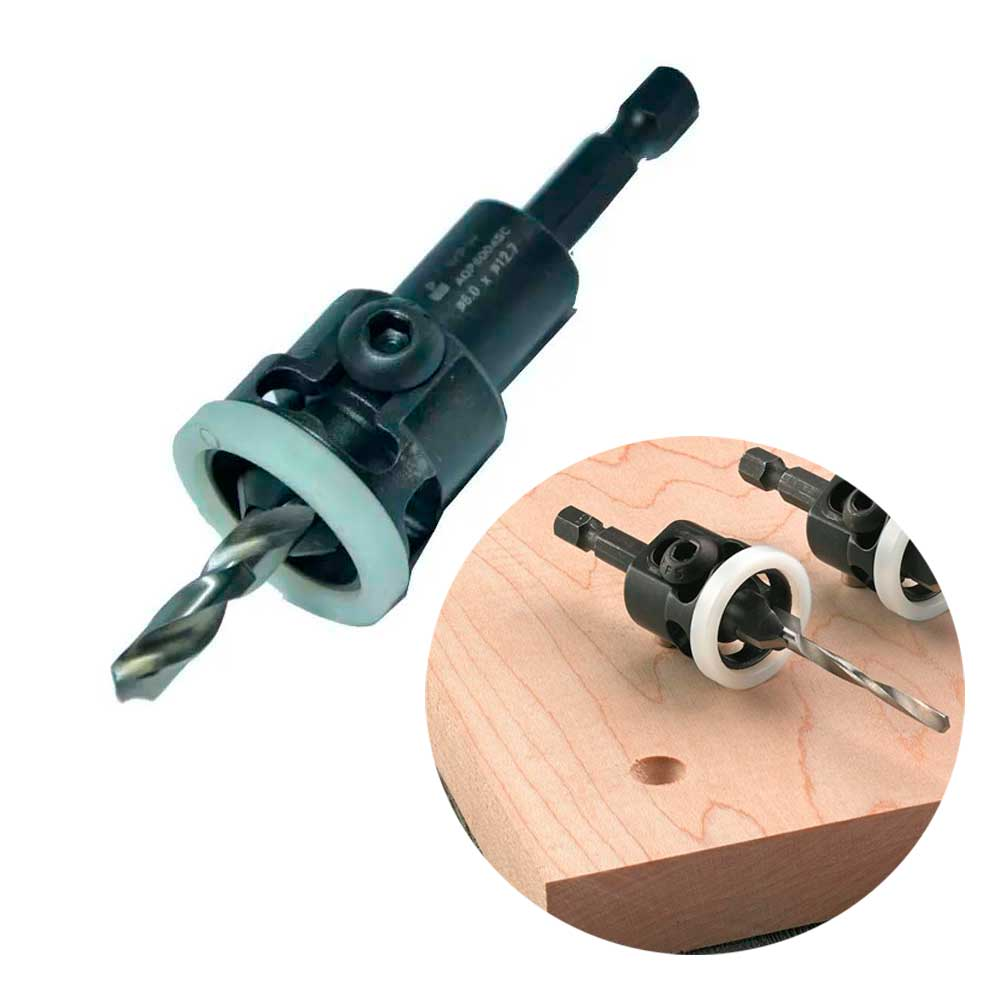 Escareador Countersink Stopper (NY) 12,7mm e Broca 6mm - HEX/70 (AQP6004SC) - WPW
