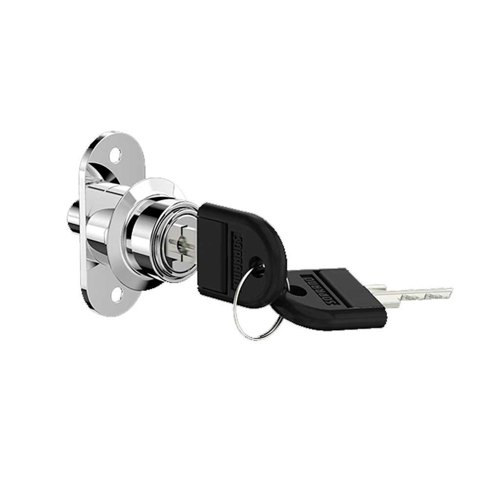 Fechadura Pressão P/Porta Correr 39 23mm 2421 Cromado  - Soprano