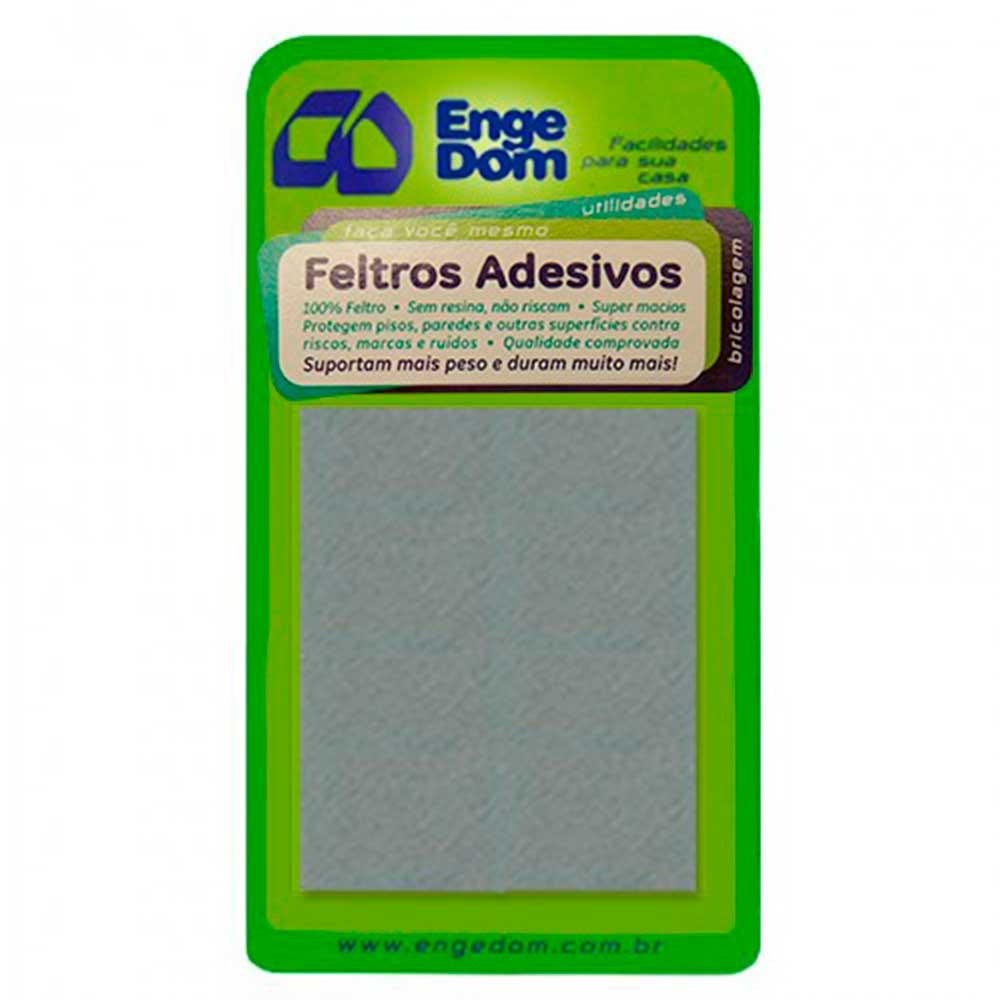 Feltro Cinza AA Retangular 75x100x3mm - Engedom