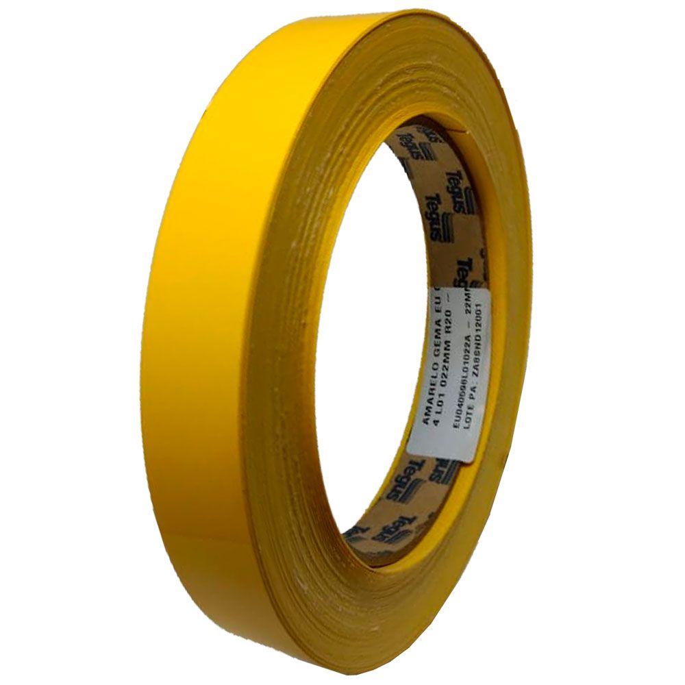 Fita de Borda 20x22mm Amarelo Gema EU - Tegus