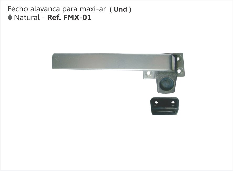 FECHO ALAVANCA PARA MAXIM-AR COR NATURAL - PERFIL