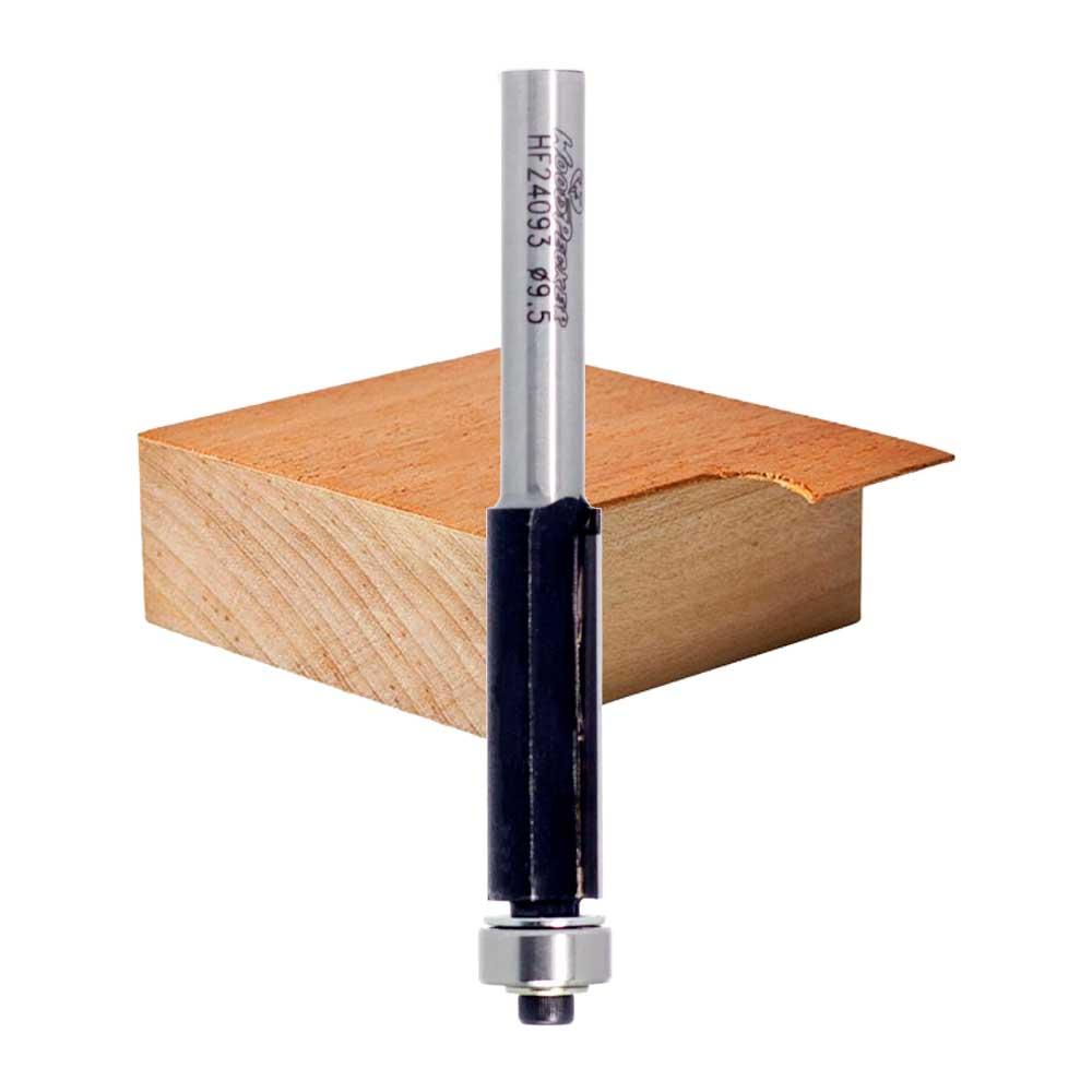"""Fresa Reta com Guia de Rolamento """"Woodpecker"""" 9,5mm X 13mm -Haste 6 HF24093 - WPW"""