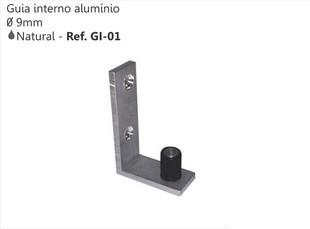 GUIA RETO DE ALUMINIO 9MM GR-01 - PERFIL