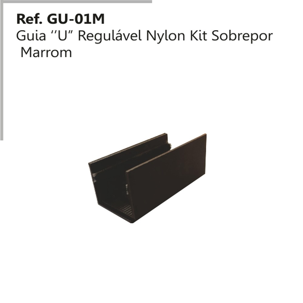 GUIA U REGULAVEL EM NYLON MARRON GU-O1 - PERFIL