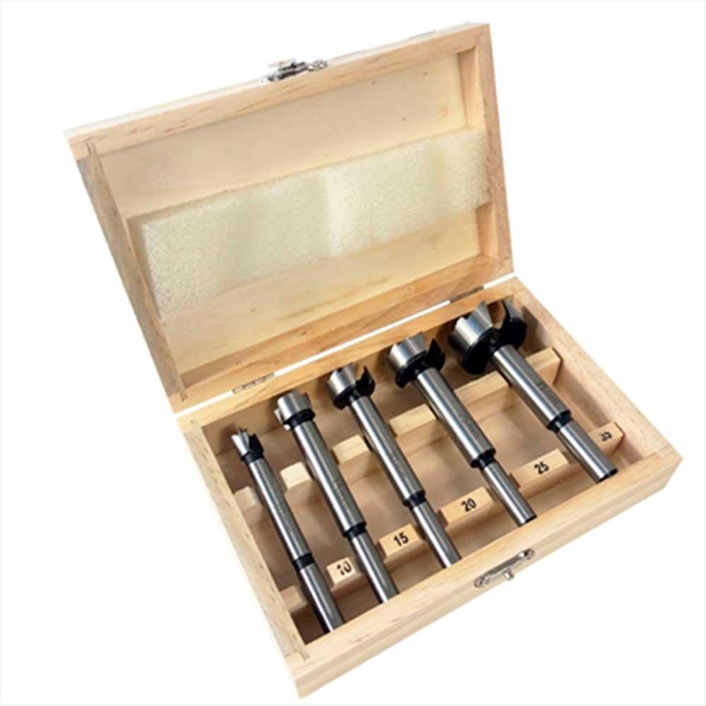 Kit 5 Brocas Forstner Fresa 10 a 35mm para Dobradica Charbs