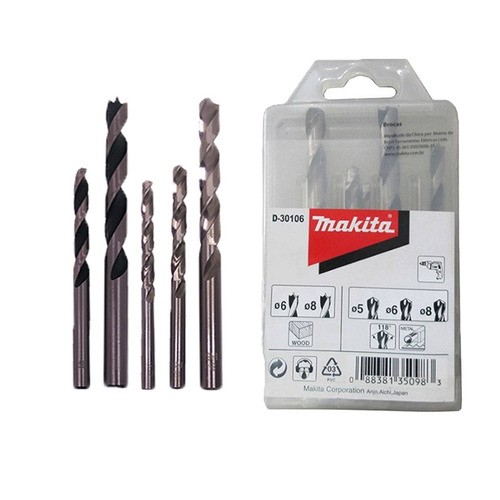 KIT DE BROCAS COM 5 PCS - D-30106 - MAKITA