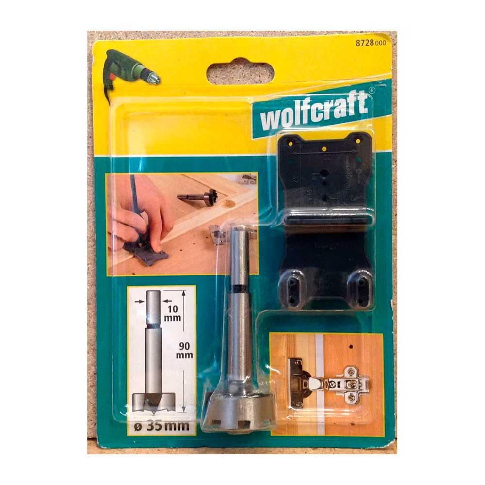 Kit Gabarito de dobradicas e Broca FORSTNER 35mm - 872800 - Wolfcraft