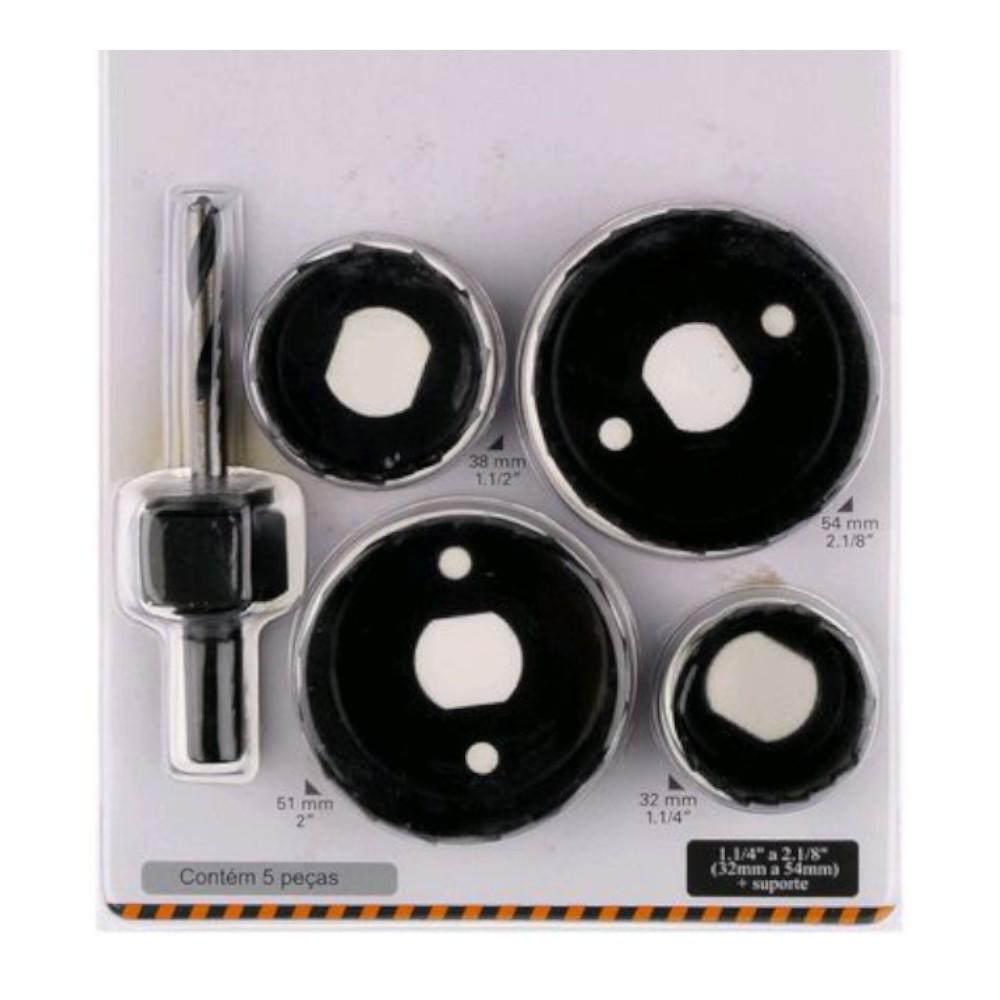 Kit Serra Copo em Aço Carbono 5 peças 13005109 - Starfer