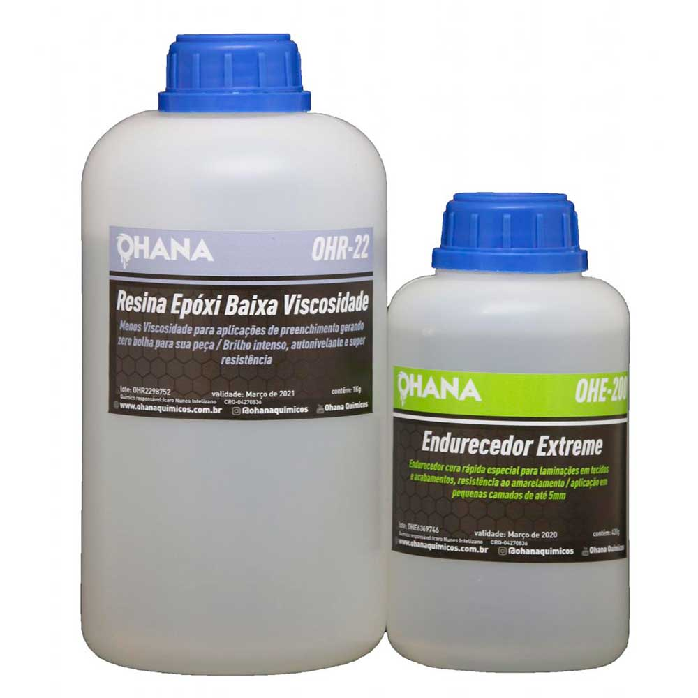Kit Sistema Extreme - 500g de Resina + 210g de Endurecedor - Ohana