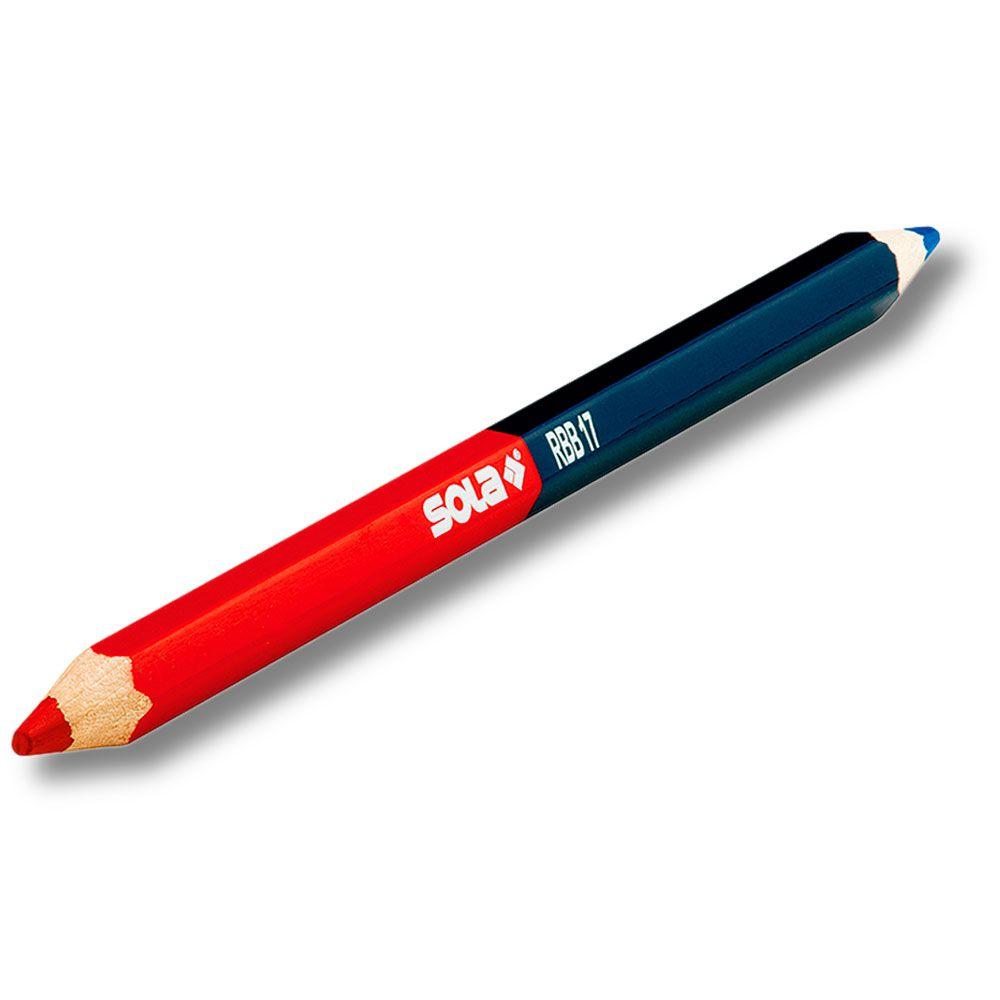 Lápis Bicolor Vermelho e Azul RBB17 - Sola
