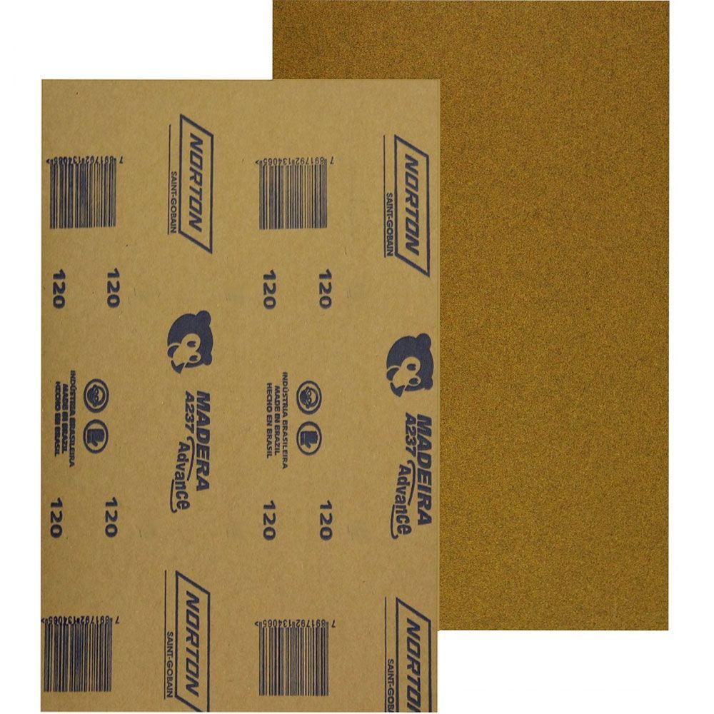 Lixa para Madeira 225x275mm grão 120 Norton - Beltools
