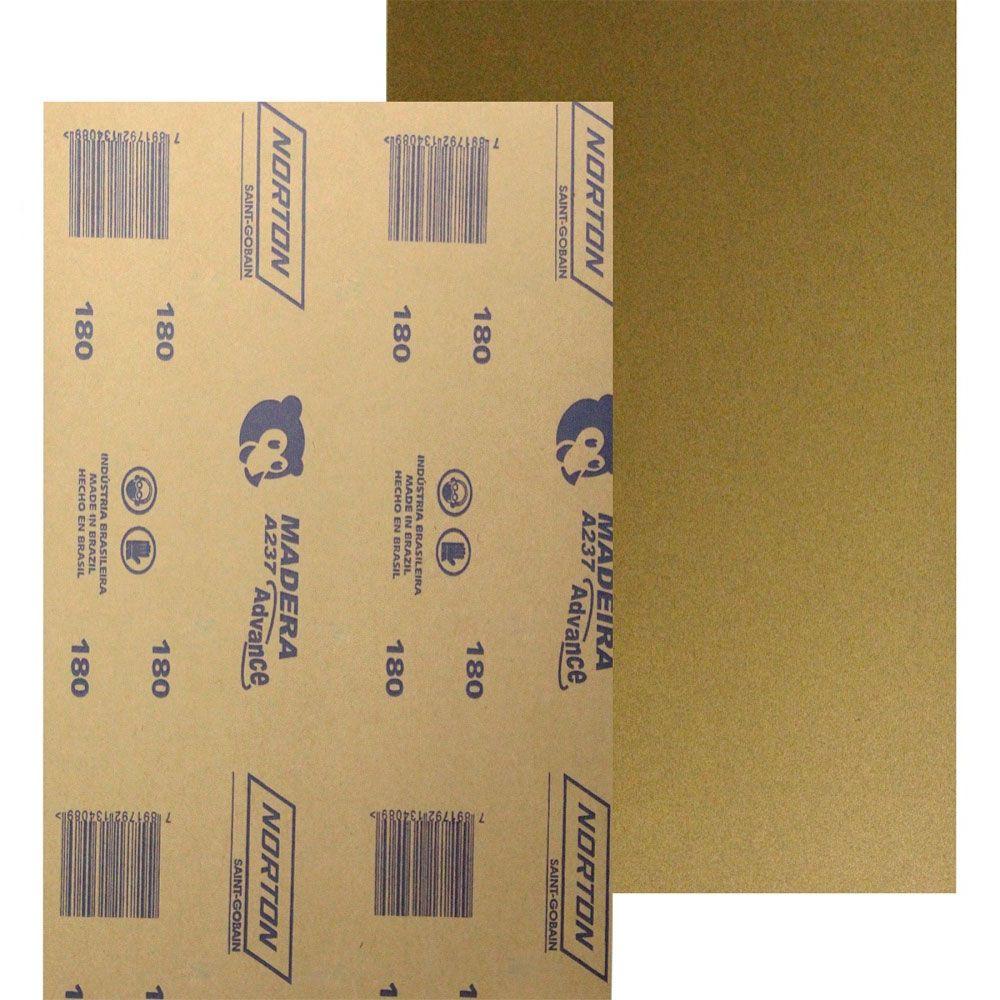Lixa para Madeira 225x275mm grão 180 Norton - Beltools