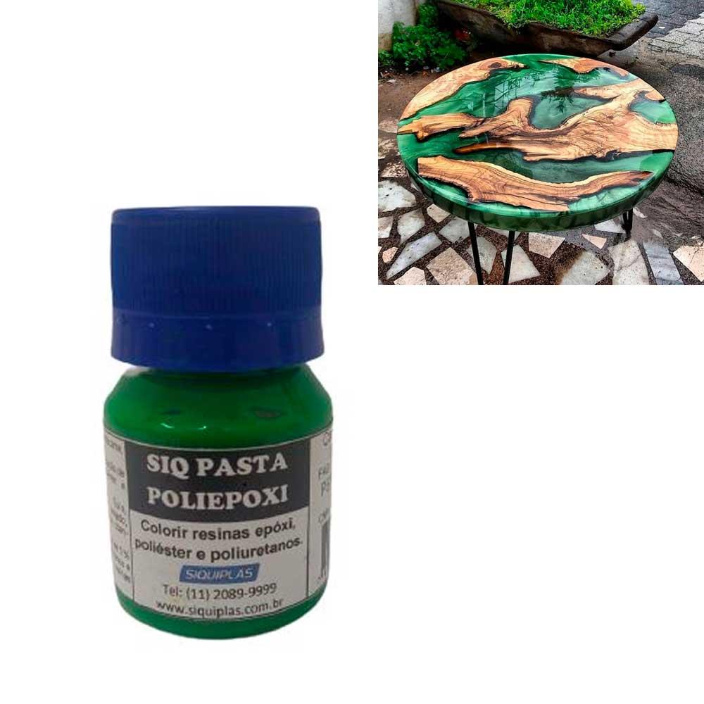 Pasta Corante para Resina Verde Folha 30ml - Siquiplás