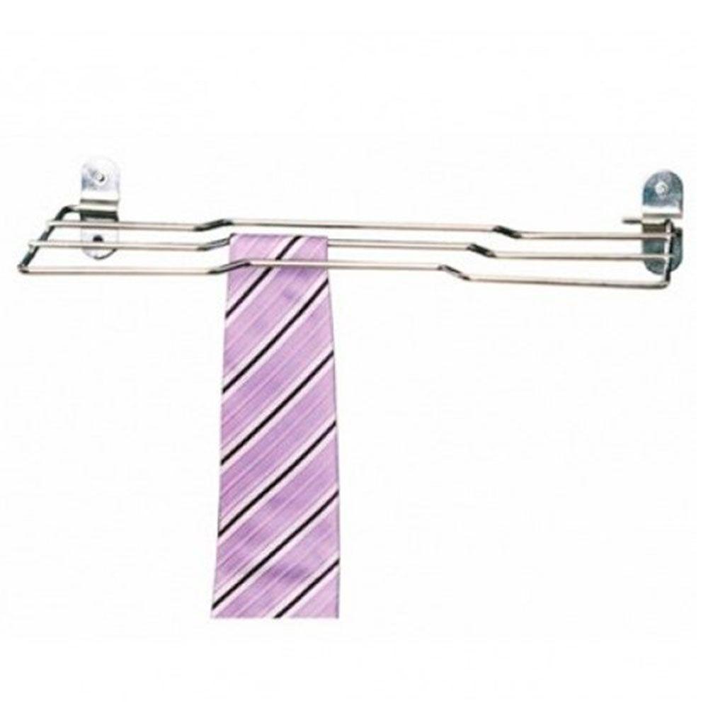 Porta Gravatas Aço Inox Cromado c/ Trava 4140 - Jomer