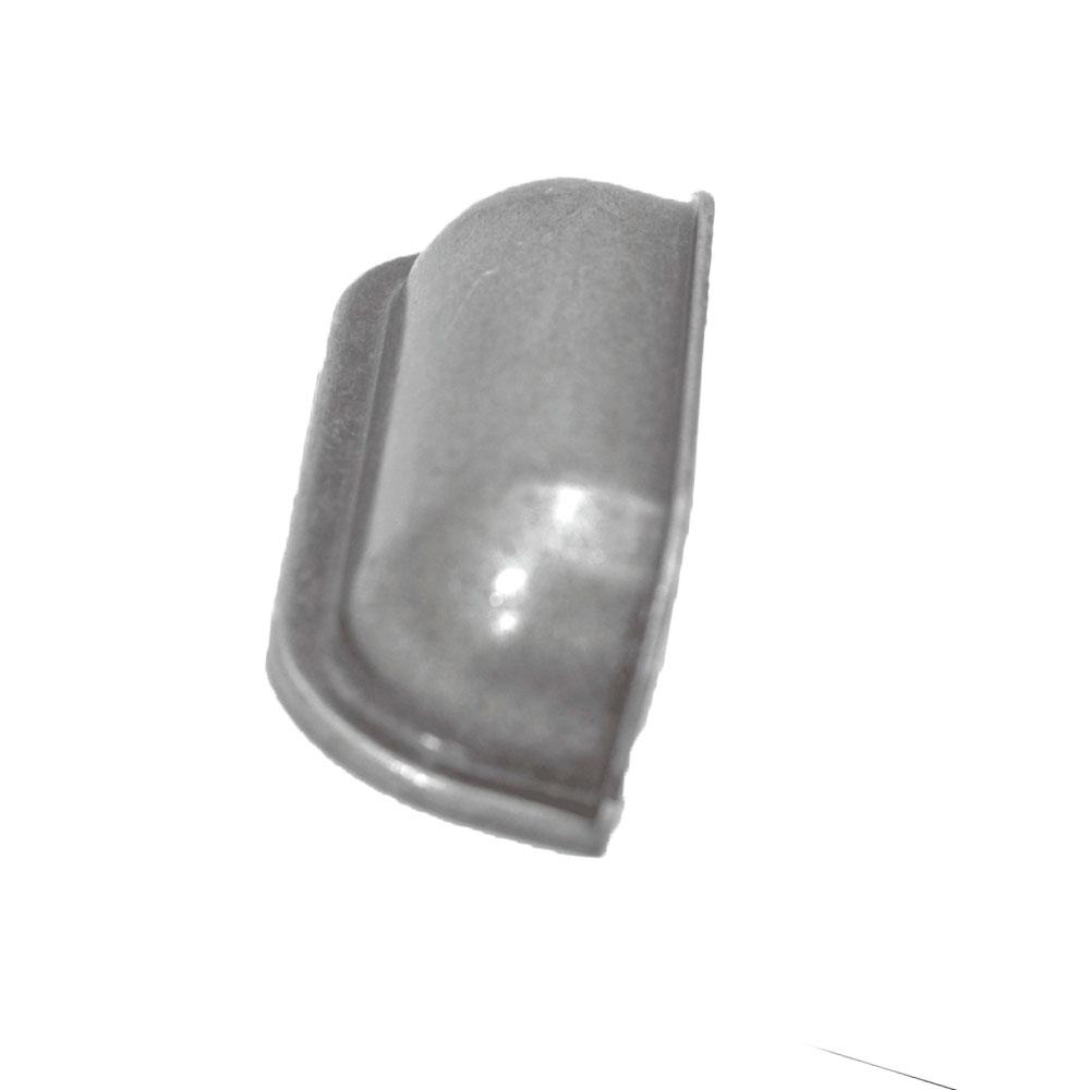Puxador Concha Quadrada Prata Envelhecido - Speed