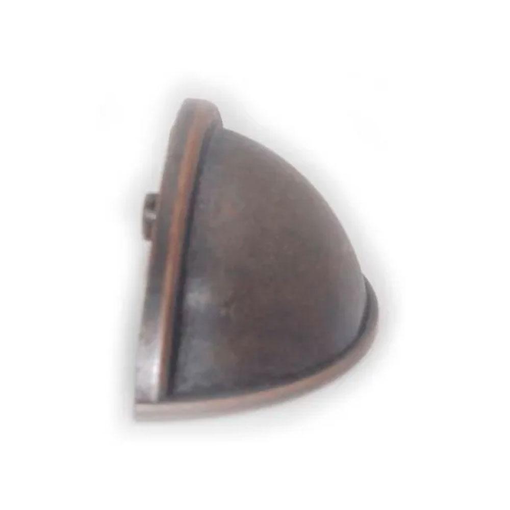 Puxador Concha Redonda Bronze Envelhecido - Speed