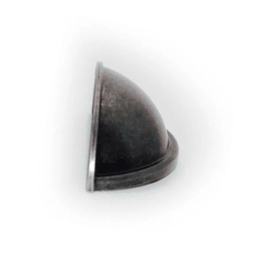 Puxador Concha Redonda Prata Envelhecido - Speed