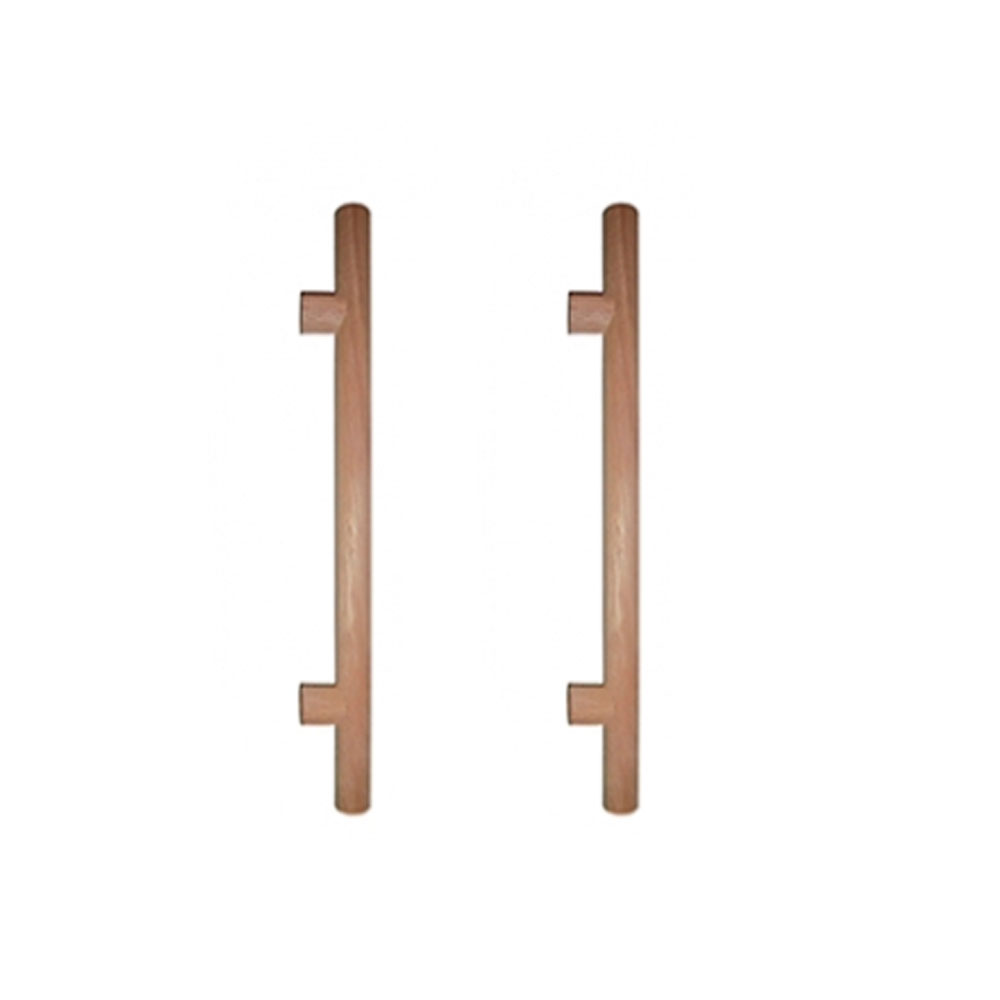Puxador de Madeira Redondo Cedro 40cm (Par) - Casmavi